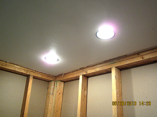 New Can Lights In Shower ...