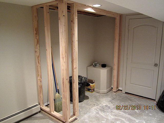 Charmant New Closet Walls Are Framed ...