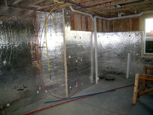 Homes and sites available energy efficient builders for Basement insulation wrap